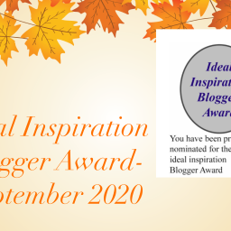 Ideal Inspiration Blogger Award- September 2020